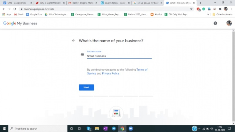 Acceso a Google My Business 1