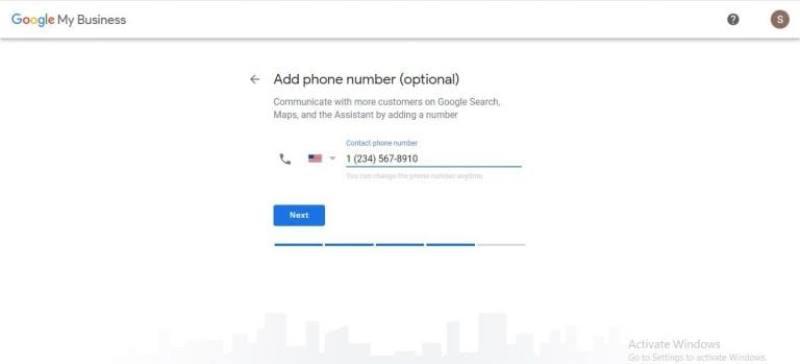 Agregar el numero de telefono
