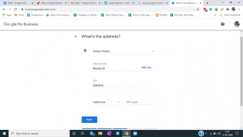 Ubicacion de Google My Business 2