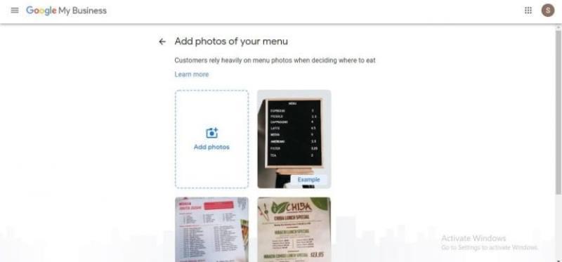 menu y fotos imprescindible para cualquier servicio